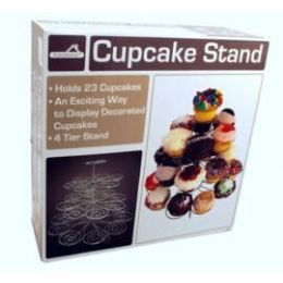 6 Units of 4 Tier Stand, Holds 23 Cupcakes - Kitchen Trays