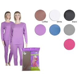 36 Units of Ladies Thermal Set In Black - Womens Thermals