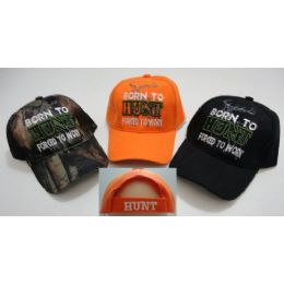24 Units of Born To HunT-Forced To Work Hat - Hunting Caps