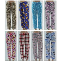96 Units of LADIES FLEECE SLEEP PANTS / Lounge Pants - Women's Pajamas and Sleepwear