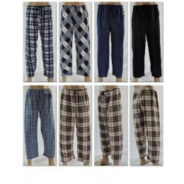 96 Units of Mans Fleece Sleep Pants - Mens Pajamas