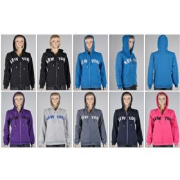 48 Units of Laides Zipper HoodieS- New York - Womens Sweaters & Cardigan