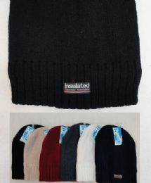 72 Units of Thermal Insulate BeaniE-Solid Colors , Unisex - Winter Beanie Hats