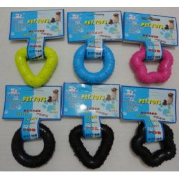 72 Units of Dog Chew Toy [Ring-Diamond-Star] - Pet Accessories