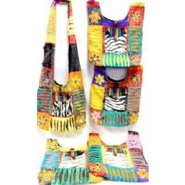 5 Units of Hobo Bags with Zebra Printed Pocket and Flowers - Handbags