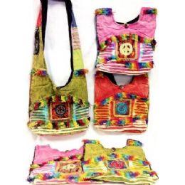 5 Units of Peace Sign Hobo Bags Sling Purses Assorted Colors - Handbags