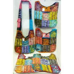 5 Units of Spiral Design Hobo Bags Sling Purses Ast - Handbags