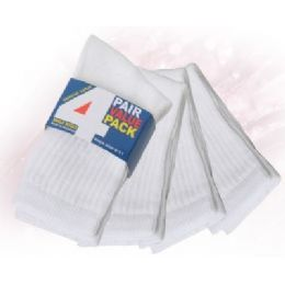 48 Units of Boys 4 Pack Sport Crew Socks - Boys Crew Sock