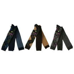 48 Units of Women Plaid Print Knee High 3Pack - Womens Knee Highs