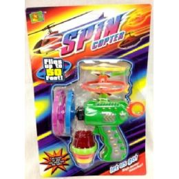 24 Units of  Spin Gun Set Lightup Spin Gun Helicopters - Toy Sets