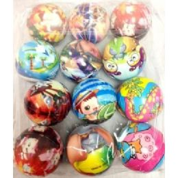 24 Units of Small Foam Play Ball Assorted - Toy Sets