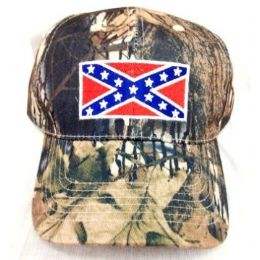 42 Units of Rebel Flag Camouflage Baseball Hats - Hunting Caps