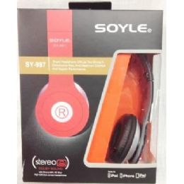 60 Units of Soyle SY987 Headphones Assorted Colors - Headphones and Earbuds