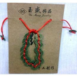 72 Units of 12pcs Old Coin Chinese Bracelet Adjustbale Length - Bracelets