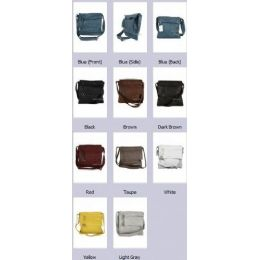 36 Units of Crossbody Soft Leather Sling Purse Assorted Colors - Leather Purses and Handbags