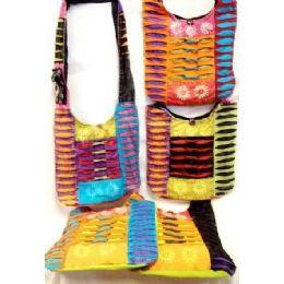 36 Units of Hobo Nepal Handmade Sling Purse Bag With Ripped Fabric - Handbags