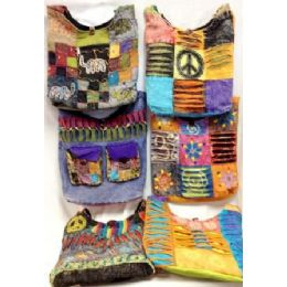 36 Units of Assorted Nepal Hobo Bags Tie Dye Fabric Handmade Sling - Handbags