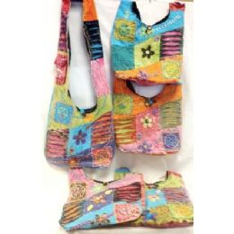 36 Units of Nepal Handmade Peace Sign Flower Hobo Purse/handbag - Handbags