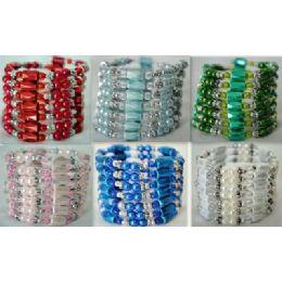 42 Units of 12 Pcs Colored Magnetic Beads Warps - Bracelets