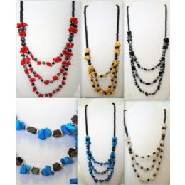 48 Units of Stone Chips Magnetic Necklace - Necklace