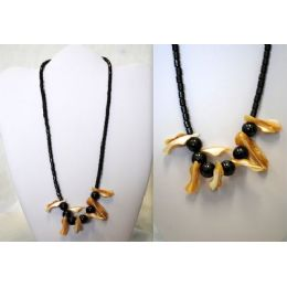 48 Units of Hematite Handmade Shell Necklace - Necklace