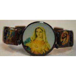 120 Units of Wood Bracelet Rosary Mary - Bracelets