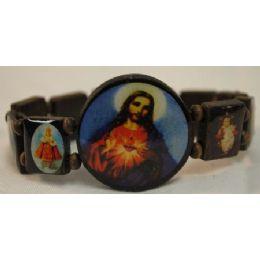120 Units of Wood Bracelet Rosary Jesus - Bracelets