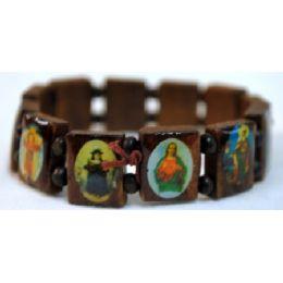 120 Units of Bracelet Rosary Saint Brown - Bracelets