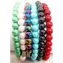 120 Units of Colored Magnetic Hematite Bracelets - Bracelets
