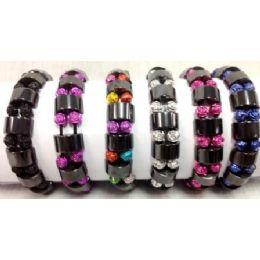 72 Units of Small Rose Beads Bracelets - Bracelets