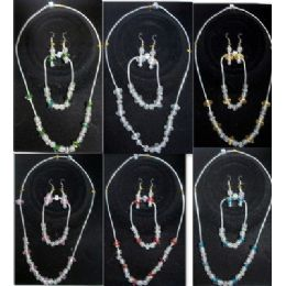 48 Units of Pre Mixed Crystal beads set Assorted Colors - Necklace Sets