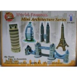 48 Units of Architecture 3d Puzzle Worlds Famous Buildings - Crosswords, Dictionaries, Puzzle books