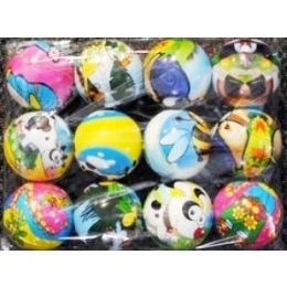 72 Units of Foam Cartoon Balls - Light Up Toys
