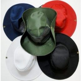 62 Units of Boonie Hats Cowboy Style Fishing Hats Solid Color - Cowboy & Boonie Hat