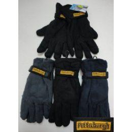 72 Units of Men's Fleece Gloves-Thermal - Fleece Gloves