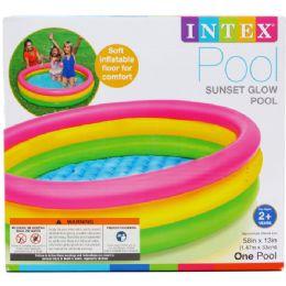 6 Units of SUNSET GLOW POOL - Summer Toys