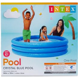 6 Units of POOL THREE RING CRYSTAL BLUE - Summer Toys