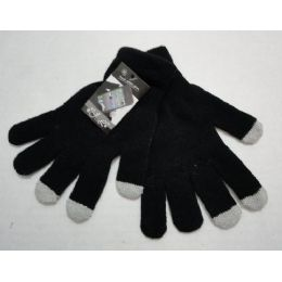 120 Units of Wholesale Texting Gloves Lady's Size Black Color - Conductive Texting Gloves