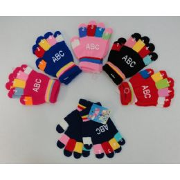 72 Units of Wholesale Bulk Colorful Gloves - Knitted Stretch Gloves