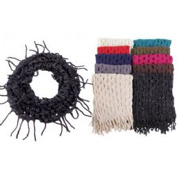 48 Units of Ladies Fashion Infinity Scarf With Glitter - Womens Fashion Scarves