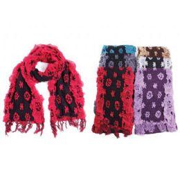 48 Units of Ladies Floral Scarf - Winter Scarves