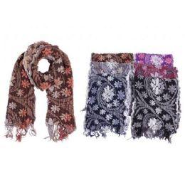 72 Units of Ladies Floral Scarf - Winter Scarves