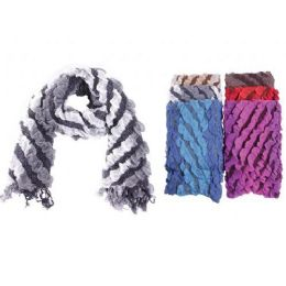 72 Units of Ladies Ruffle Scarf - Winter Scarves