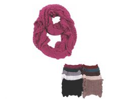 72 Units of Ladies Winter Fashion Infinity Scarf - Winter Scarves