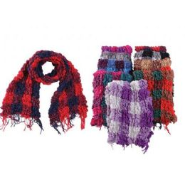 48 Units of Ruffle Checker Ladies Winter Scarf - Winter Scarves