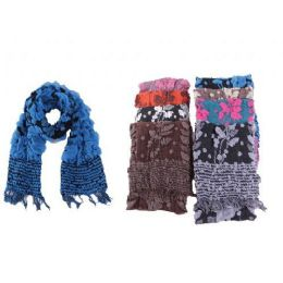48 Units of Ladies Floral Winter Scarf - Winter Scarves