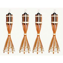 48 Units of Table Top Outdoor Bamboo Torch - Garden Decor