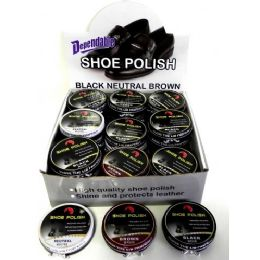144 Units of Cream Shoe Polish On Counter Display - Nail Polish