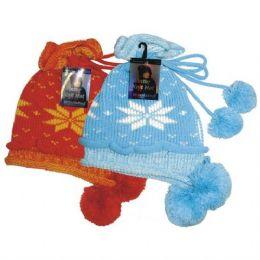 24 Units of Winter Knit Hat W/ Pom Pom - Winter Helmet Hats