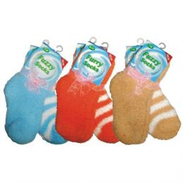 48 Units of SOCK-Kid Fuzzy Sock 2PK